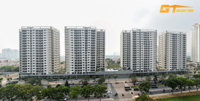 Hung Phuc apartment for rent on the 8th floor, area: 78m, 02 bedrooms - rent 1,000 USD / month.