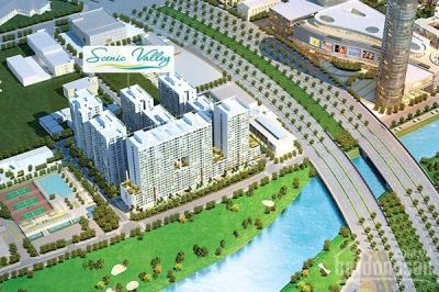 Cho thuê căn hộ Scenic 1 nhà mới, lầu cao, xem sân golf.